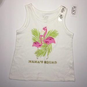 NWT C.Place 4T Mama flamingo tank top